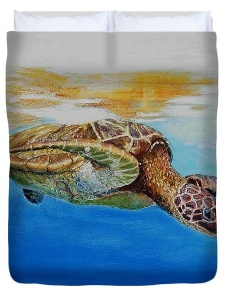 Up For Some Rays Duvet Cover by Ceci Watson