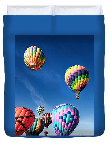 Up In A Hot Air Balloon 2 Duvet Cover