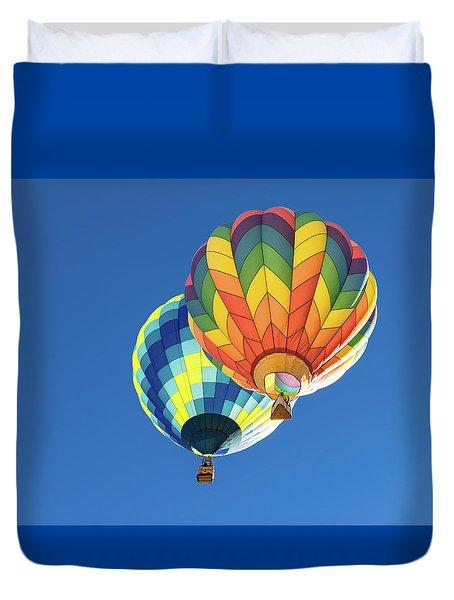 Up In A Hot Air Balloon Duvet Cover