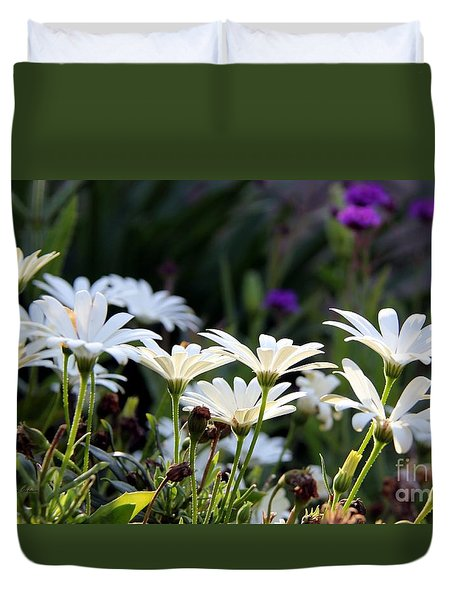 Duvet Cover featuring the photograph Up Lifting by Yumi Johnson
