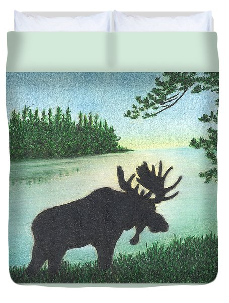 Up Maine Duvet Cover