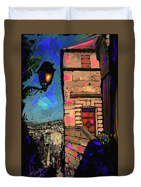 Up On A Hill, Le Beaux, France Duvet Cover by DC Langer