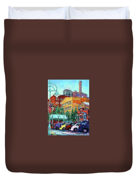 Up On Broadway Duvet Cover