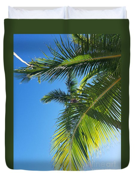Up-palm Duvet Cover