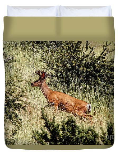 Up The Bank Duvet Cover