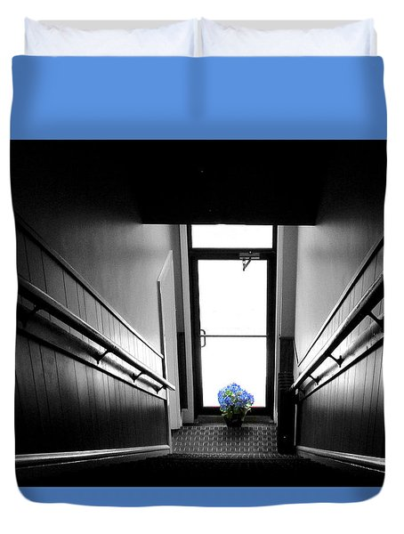 Up The Down Staircase Duvet Cover