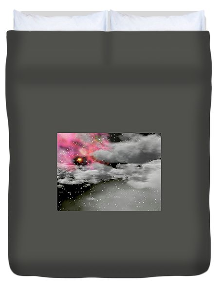 Up Through The Clouds Duvet Cover