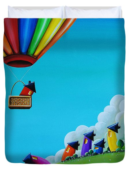 Up Up And Away Duvet Cover by Cindy Thornton