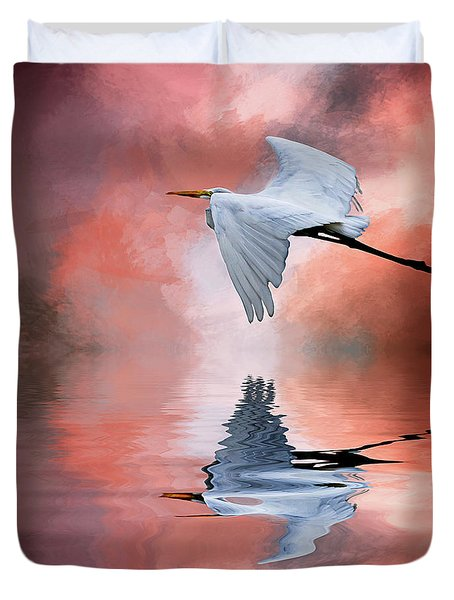 Up. Up And Away Duvet Cover by Cyndy Doty