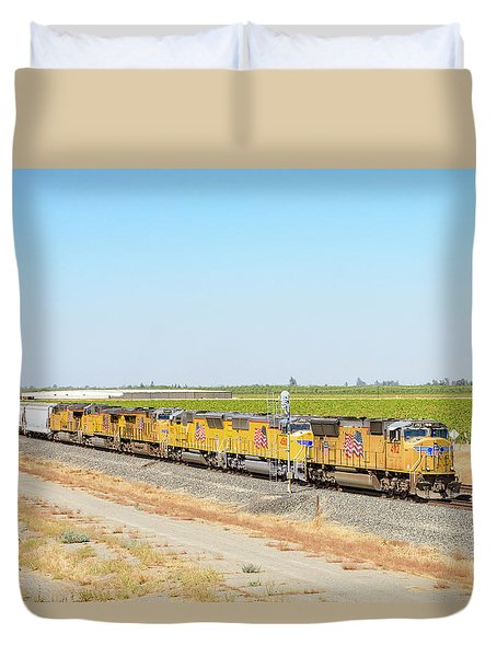 Duvet Cover featuring the photograph Up4912 by Jim Thompson