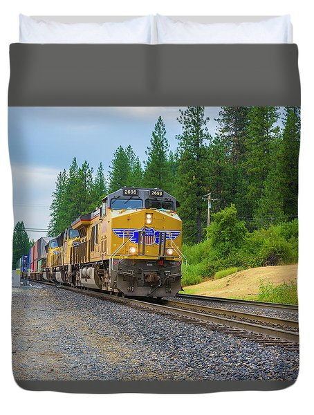 Duvet Cover featuring the photograph Up5698 by Jim Thompson