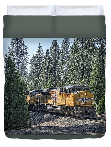 Duvet Cover featuring the photograph Up8968 by Jim Thompson