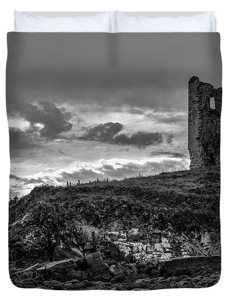 Duvet Cover featuring the photograph Upcomming Myth Bw #e8 by Leif Sohlman