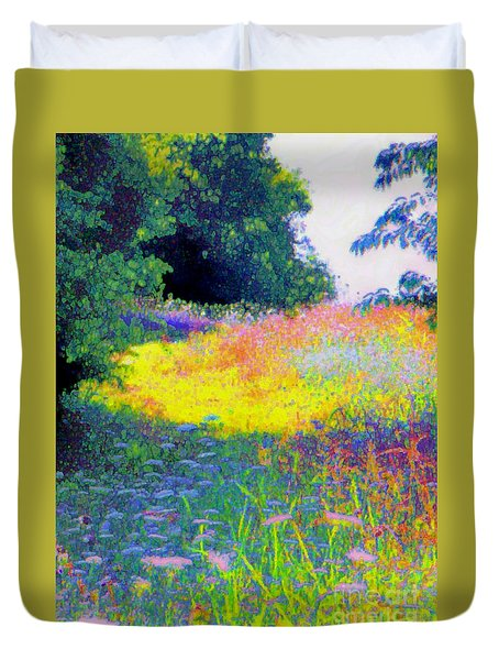 Uphill In The Meadow Duvet Cover