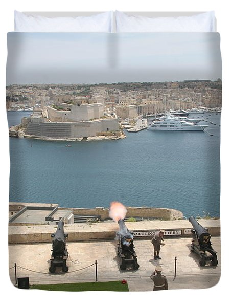Upper Barrakka Saluting Battery Duvet Cover