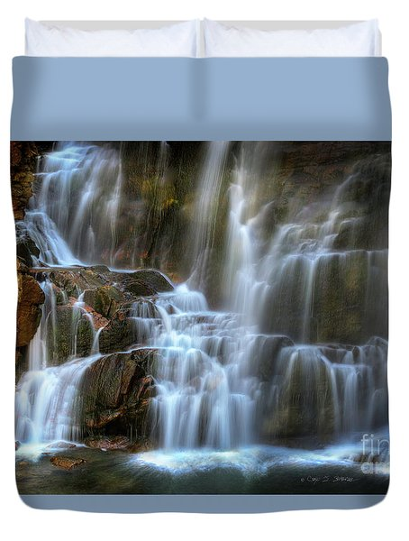 Upper Beartooth Falls Duvet Cover