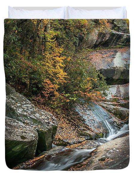 Upper Creek Falls Duvet Cover