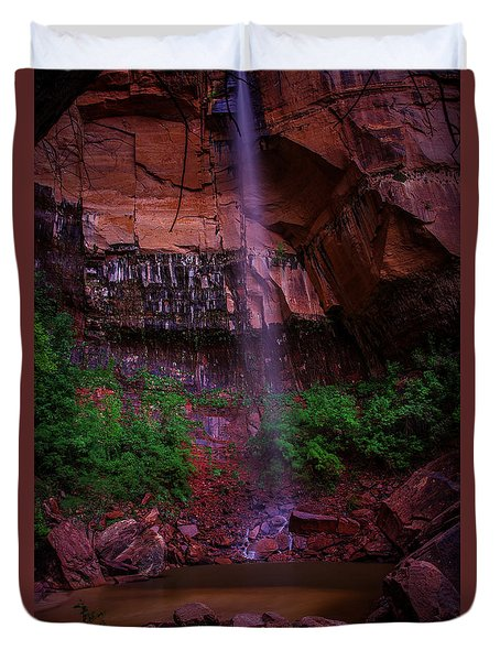 Upper Emerald Pools Fall Zion National Park Duvet Cover