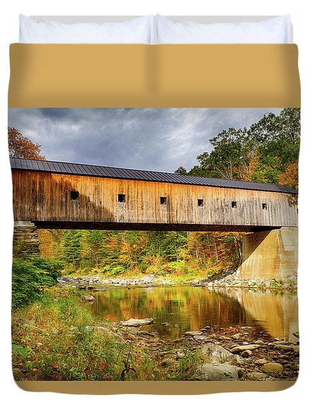 Upper Falls Covered Bridge Duvet Cover