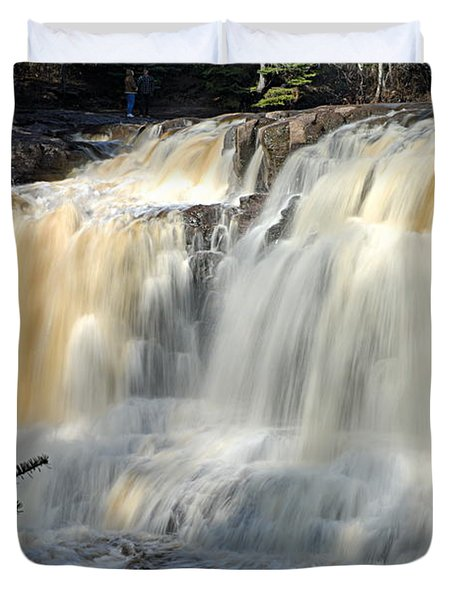 Upper Falls Gooseberry River Duvet Cover