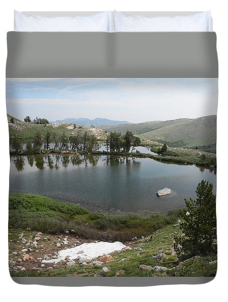 Upper Hidden Lake Duvet Cover