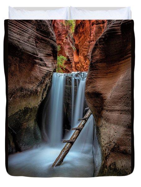 Upper Kanarraville Falls Duvet Cover