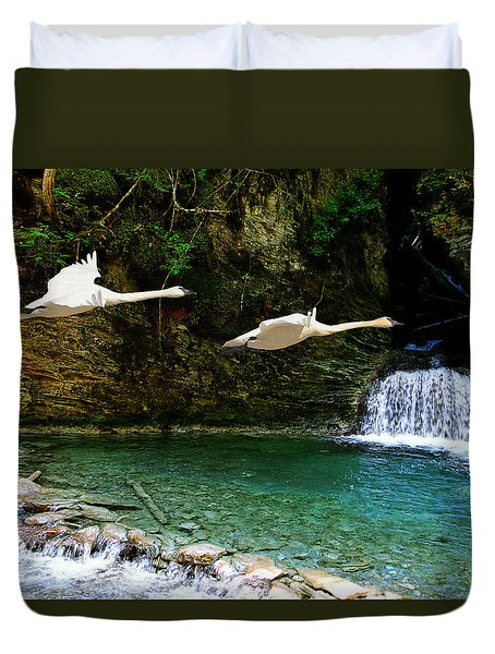 Upper Margaret Falls Duvet Cover