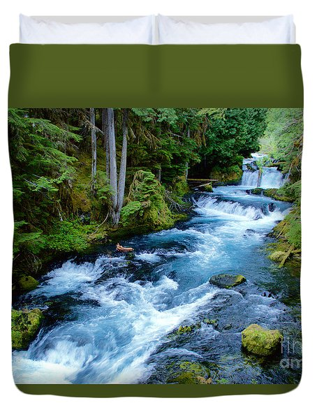 Upper Mckenzie Duvet Cover by Sean Griffin