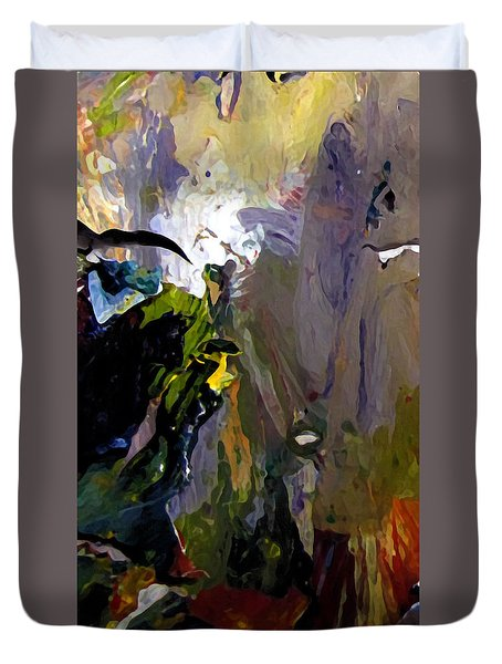 Duvet Cover featuring the painting Upper Mercer River by Charlie Spear