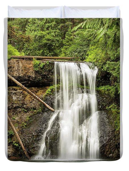 Upper North Silver Falls Vertical Duvet Cover