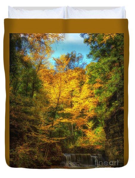 Upper Pinnacle Falls Duvet Cover