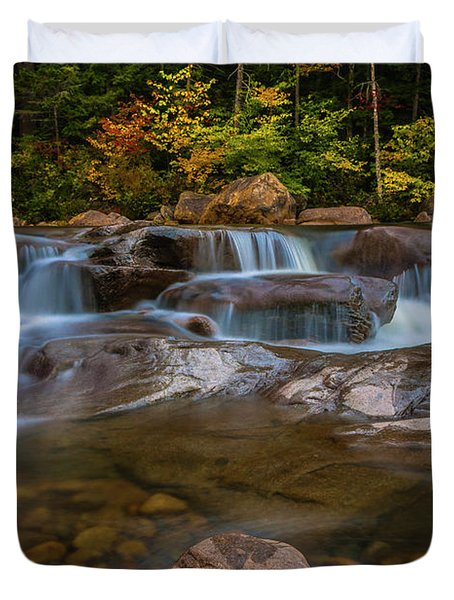 Upper Swift River Falls In White Mountains New Hampshire Duvet Cover