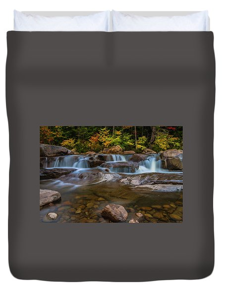 Duvet Cover featuring the photograph Upper Swift River Falls In White Mountains New Hampshire by Ranjay Mitra