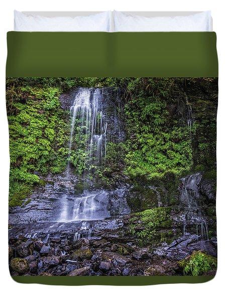 Upper Terrace Falls Duvet Cover by Joe Hudspeth