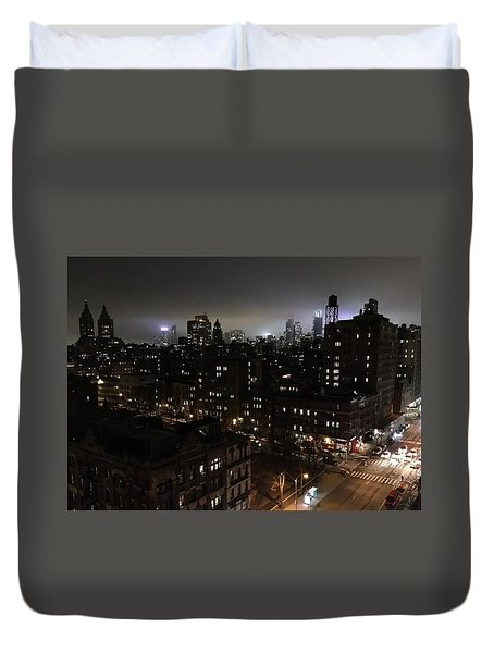 Duvet Cover featuring the photograph Upper West Side by JoAnn Lense
