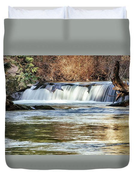 Upper Whatcom Falls Duvet Cover