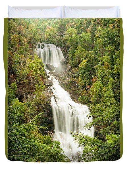 Upper Whitewater Falls Duvet Cover