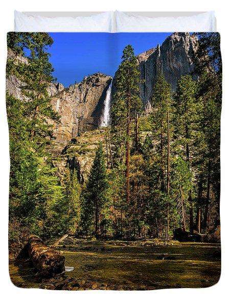 Upper Yosemite Falls From Yosemite Creek Duvet Cover