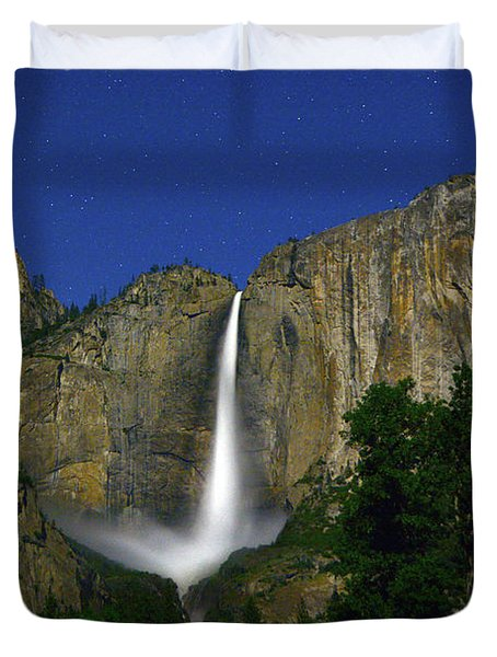 Upper Yosemite Falls Under The Stairs Duvet Cover