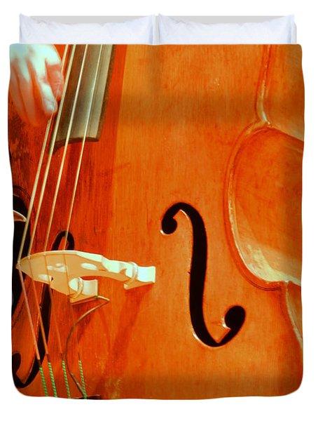 Upright Bass 3 Duvet Cover