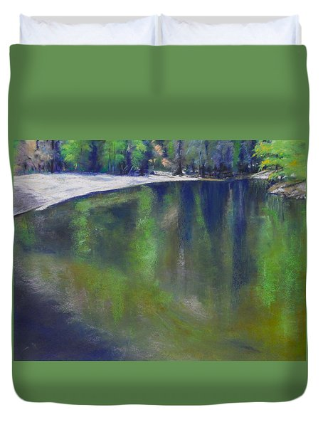 Upriver View Duvet Cover