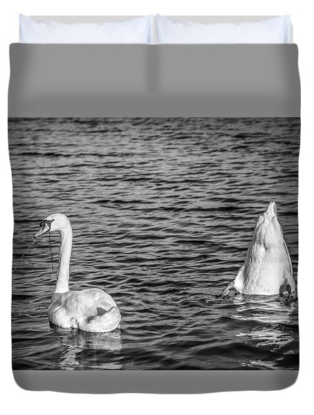 Duvet Cover featuring the photograph Ups And Downs by Gary Gillette