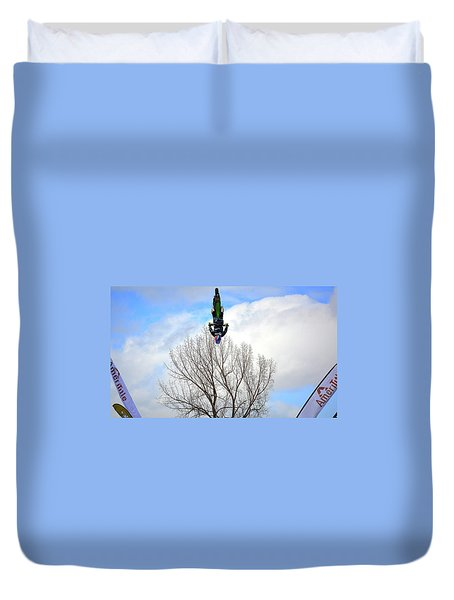 Upside Down And All Around Duvet Cover by Barbara Dudley