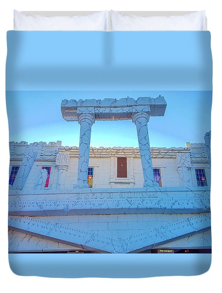 Upside Down White House Duvet Cover