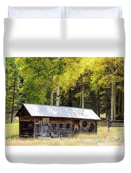 Uptop A Colorado Ghost Town Duvet Cover by Nadja Rider
