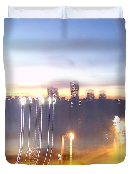 Uptown Toronto - Friday Night Duvet Cover