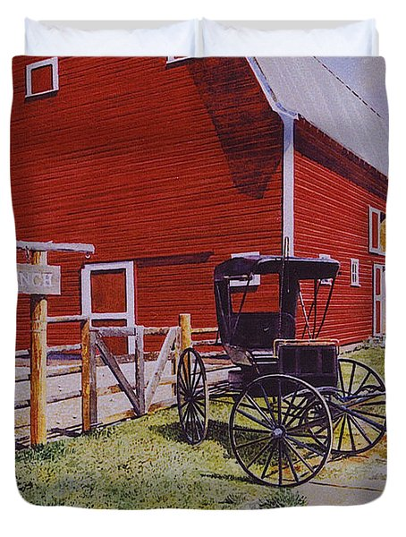 Ouray Ranch Duvet Cover