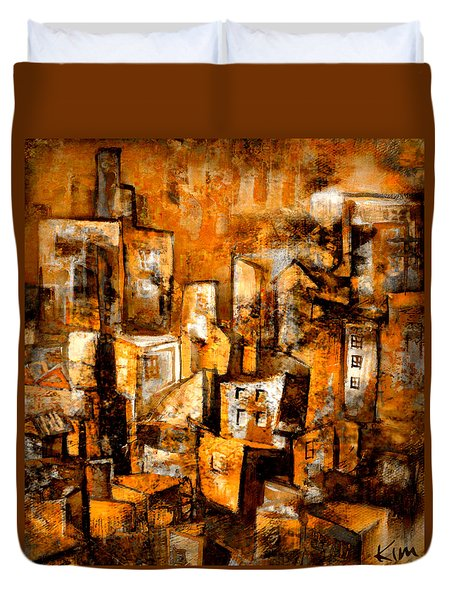 Urban Abstract #1 Duvet Cover by Kim Gauge