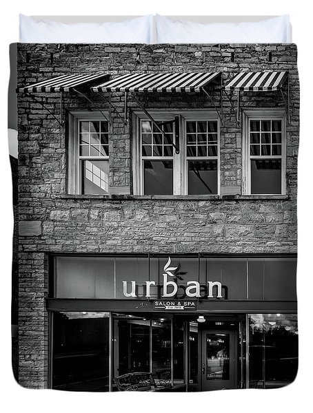 Urban Black And White Duvet Cover