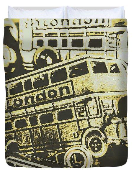 Urban Bus Mural Duvet Cover